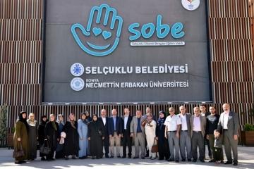 ŞEHİT AİLELERİ SOBE'Yİ GEZDİ